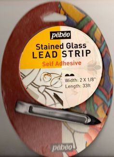 Amazon.com: Pebeo Vitrail Stained Glass Effect Self Adhesive Lead Strip: Arts, Crafts & Sewing