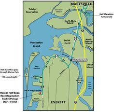 4/28/13, Heroes Half Marathon, Everett WA. My 11th half in <22 months.