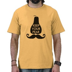 """""""Keep Your Pear"""" - for the awareness of men's health issues during """"No Shave November"""" AKA """"Mo'vember"""" $20.95"""