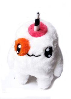 Big Fluse Kawaii Plush Unicorn cute monster Pink White von Fluse123, €30.00