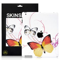 Cute Butterflies Pattern The new iPad/iPad 2 Back Cover Decal Skin Sticker - White  PriceUS $5.68
