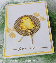 Gestempelte Mitbringsel: Osterkarte