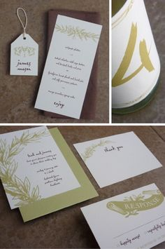 Free printable rustic wedding stationery (complete set including invitation, RSVP card, menu, etc.)