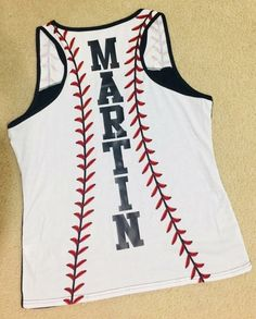 Loose fit tank, solid black on front, baseball pattern on back, customized with . Baseball Game Outfits, Baseball Boys, Baseball Gifts, Baseball Tank, Baseball Season, Baseball Stuff, Baseball Cleats, Baseball Clothes, Baseball Videos