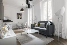 White, gray, and modern.