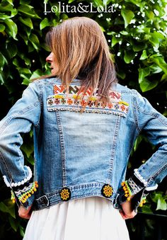 cubrebotas boho chic complementos moda  Boot cuffs fashion accessories alaolita&Lola: Cazadora vaquera     Denim jacket  de Lolitaylola ...