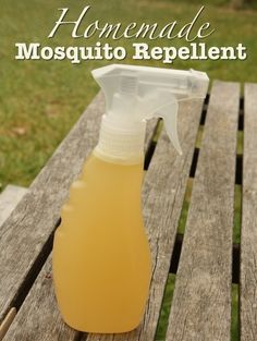 Homemade Mosquito Repellent Recipe on Surviving the Stores at http://www.survivingthestores.com/homemade-mosquito-repellent.html