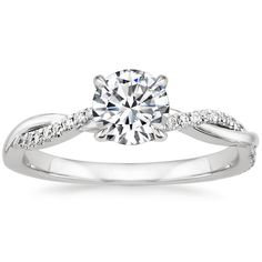 Top Twenty Engagement Rings - PETITE TWISTED VINE DIAMOND RING