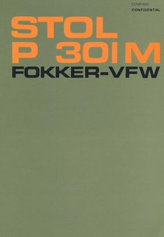 Fokker - VFW P 301 M Aircraft Technical Report Manual - - Aircraft Reports - Aircraft Manuals - Aircraft Helicopter Engines Propellers Blueprints Publications