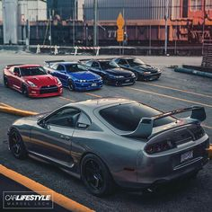 Supra is outnumbered! Toyota Supra Mk4, Toyota Cars, Stance Nation, Nissan Gtr R34, Best Jdm Cars, Mustang, Volkswagen, Street Racing Cars, Tuner Cars