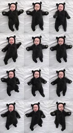 Milk Eyes: Baby Bear Outfits, Jackets, Hats, Rompers, Playsuits and Onesies- Complete With Ears And Tails! Swag Cool kid, cute baby, baby swag