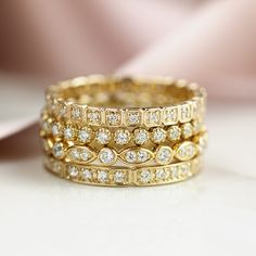 14k Diamond Hazel Eternity Ring