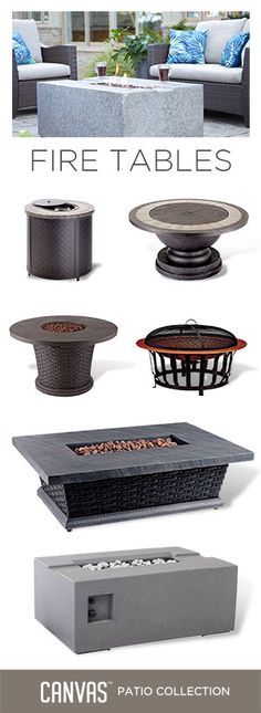 Add a fire table to your outdoor space for warmth, style, and function. #MyCANVASstyle