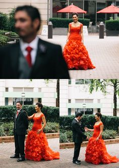 Mai Lan + Bill | Bold Clarendon Ballroom Wedding with Red Wedding Dress |Nat Wongsaroj Photography. Hair by Mandy - Makeup by Shaune'