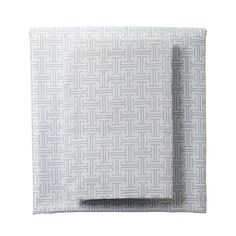 Aqua Trellis Sheets for our Designer Bedding   Serena & Lily