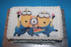 Gâteau avec image comestible des minions