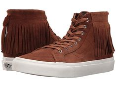 54c1db3d45 Vans Unisex Sk8-Hi Moc Suede Skate Shoes-Brown-5-Women