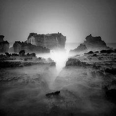 Fog over the Canyon, black and white photography by Hengki Koentjoro.
