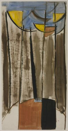 Sir Terry Frost - Untitled Composition, circa Oil on paper, 768 x 395 mm. via the Tate. Abstract Painters, Abstract Art, Abstract Trees, Peter Wood, Patrick Heron, Life Drawing Classes, Abstract Expressionism, Art Boards, Frost