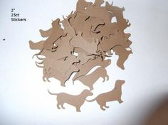 "2"" Dachshund Brown 25ct Stickers. $3.50, via Etsy."