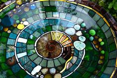 Mosaic art inspired by nature and myth