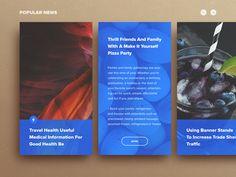 Web card design
