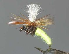 The Sulpher Klinkhammer Emerger Flyfishing trout fly pattern