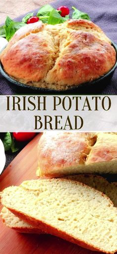 Irish Potato Bread is a quick and easy bread recipe you make without yeast, Your going to LOVE it! Irish Potato Bread is a quick and easy bread recipe you make without yeast, Your going to LOVE it! No Yeast Bread, Yeast Bread Recipes, Quick Bread Recipes, Easy Bread, Cooking Recipes, Potato Bread Recipe No Yeast, No Milk Biscuit Recipe, Bread Baking, Quick And Easy Recipes