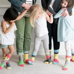 """Simple and bold, these """"Blocks of colour"""" Kids, Toddler seamless socks with grip will draw anyone's attention. This collection embodies the favorite colours of our current and new collection! Poor Children, Children In Need, Mommy And Me, Mom And Dad, Organic Baby, Organic Cotton, Seamless Socks, Kids Blocks, Perfect Gift For Dad"""