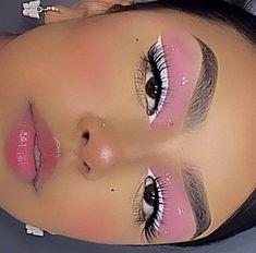 Cute Makeup Looks, Makeup Eye Looks, Eye Makeup Art, Pretty Makeup, Skin Makeup, Beauty Makeup, White Eyeliner Makeup, Perfect Makeup, Indie Makeup