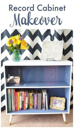 ... one of those! Record Cabinet Makeover, what a cool DIY furniture idea