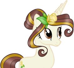 Golden Rose is a very quiet and shy pony. She keeps things to herself, but is everyone's go-to when they need advice. She loves gardening, and often talks to flowers, whom she feels most comfortable with, especially her roses.