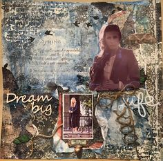 Lay Out med BBC- kit DT for Srappiness Dream Big, Bbc, Layout, Page Layout
