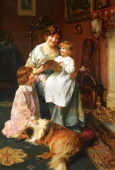 Bedtime Story by Arthur John Elsley, 1860-1952, English.