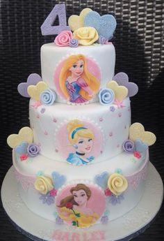 3 tier pastel princess cake with handmade rose – Artofit Disney Princess Birthday Cakes, Birthday Cake Girls, Birthday Cupcakes, Princess Party, Royal Princess, 5th Birthday, Birthday Ideas, Girl Cupcakes, Cupcake Cakes