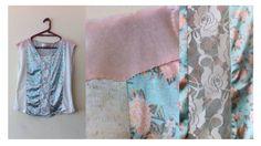 Blusa de bloques. #recycledfabric #vintageflowers #blouse #echochic #bohochic #madewithlove
