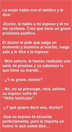 La mujer habla con el médico … | AldeaViral