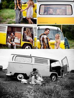 VW van engagement pics - by Diamond Cake Photography