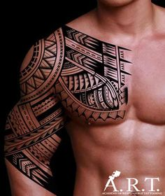 Check out this awesome tribal tattoo, created by an artist that is sure passionate about his/her craft.