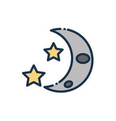 Half moon and stars astronomy and space vector Bat Signal, Superhero Logos, Astronomy, Vector Free, Royalty, Moon, Stars, Royals, The Moon