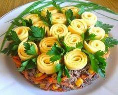 """Шустрый повар.: Красивый и вкусный салат """"Цветочная обжорка"""""""