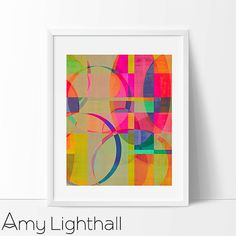 neon hot pink neon art abstract artwork graphic by AmyLighthall