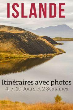 Planifier votre Voyage en Islande avec ces suggestions d'itinéraires pour 4, 7, 10 jours et 2 semaines. Avec plein de photos pour décider si ça vous tente ! ----  Islande Voyage | Islande été | Islande itinéraire | itinéraire voyage | Islande Road Trip
