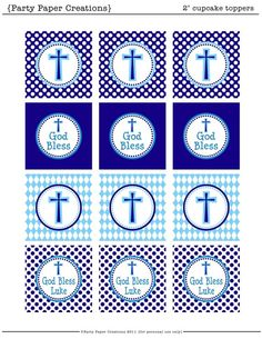 Baptism Christening 1st Communion Boy Party Decor Printables