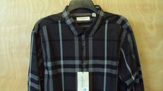 New $275 Burberry London Dress Shirt  slim fit size XXL #BurberryLondon