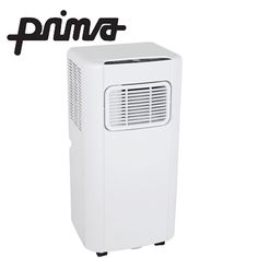 Prima Portable Air Conditioner - 9000BTU (2.6kW) Cooling Cycle with 24-Hour Timer, 2-Speed Settings, Wheels & Remote Control - White