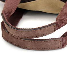 Women Casual Stripe Canvas Handbags Micro-Fibric Leather Shoulder Bags Contrast Color Crossbody Bags