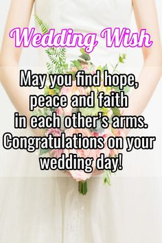 Wedding wishes, quotes and messages Use our guide with examples of wedding wishes for perfect wedding congratulations messages! Wedding Wishes For Sister, Wedding Wishes Messages, Wishes For Brother, Wishes For Friends, Wedding Congratulations Quotes, Wedding Greetings, Wedding Album, Wedding Cards, Wedding Day Quotes