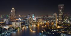 Welcome to Bangkok by Gregory De Nascimento on Night Shot, Empire State Building, Welcome, New York Skyline, River, Explore, Places, Bangkok Thailand, Cityscapes