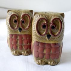 Vintage Owl Salt and Pepper Shakers Terracotta New Trends Inc – Vintage Virtue